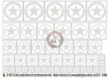 Peddinghaus 1/48 US Army Stars WWII (Invasion - Broken Circle) (White) 2091