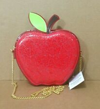 DISNEY PARKS SNOW WHITE RED APPLE GOLD CHAIN CROSSBODY PURSE ZIPPER BAG SPARKLE