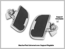Universelles 2 Platines marche pieds Passager moto custom trike Reposes pieds