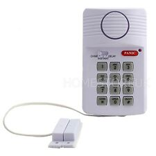 KEYPAD ALARM SECURITY SYSTEM DOOR WIRELESS WITH PANIC SHED GARAGE CARAVAN 41100
