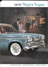 SINGER VOGUE 1600cc SALOON CAR SALES BROCHURE EARLY 60's