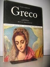 GRECO  - OPERA COMPLETA RIZZOLI - CLASSICI DELL'ARTE 1969 I