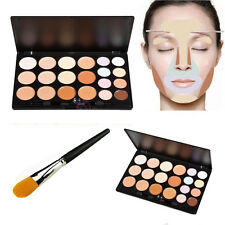 20 Colors Face Concealer Camouflage Cream Contour Palette Foundation Brush Set