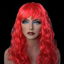 """18"""" Long Red Synthetic Curly Wavy Hair Wig for Cosplay Party Fancy Dress, NEW"""