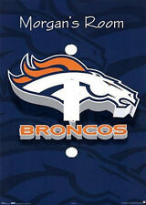 PERSONALIZED DENVER BRONCOS FOOTBALL LIGHT SWITCH PLATE COVER