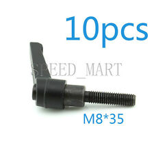 10 pcs Machinery M8 x 35mm Threaded Knob Adjustable Handle Clamping Lever