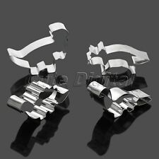 Stainless Steel Dinosaur Cake Cookie Biscuit Cutter Mould Mold Pastry Baking Set