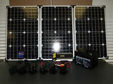 12V 120W SOLAR PANEL COMPLETE KIT CONTROLLER BATTERY INVERTER MOUNTING BRACKETS