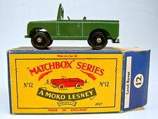 """Matchbox RW 12B Land Rover schwarze Räder frühe """"B"""" Box"""