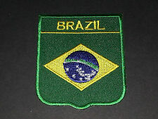 BACKPACKERS NATIONAL COUNTRY SHIELD FLAG SEW/IRON ON PATCH:- BRAZIL