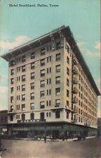 Vintage Postcard 1911 Hotel Southland Dallas Texas TX Antique Color PC