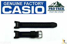 CASIO Pro Trek PRS-400B-2 Original Black / Navy Blue Leather Watch BAND Strap
