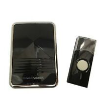 BLACK DIGITAL WIRELESS DOOR BELL CHIME PUSH CORDLESS FRONT BACK DOOR DIGITAL