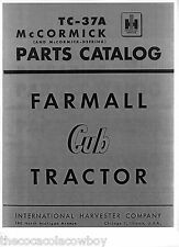 FARMALL CUB Tractor Parts Manual Catalog TC-37A IH - McCORMICK