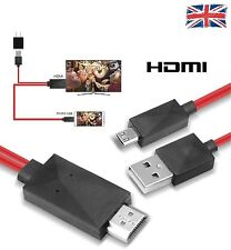 2M MHL USB A HDMI HD Tv Cavo Per Samsung Galaxy S3 / S4 / S5 Note2 / 3 TAB 10.1 / 8.0