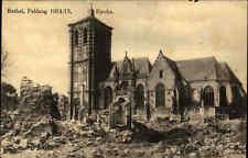 1918 Feldpostkarte Feldpost Stempel AK Feldzug Rethel Kirche nach Kavelstorf gel