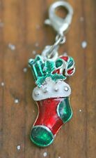 Christmas Stocking Holiday Lobster Claw Clasp Single Clip on Charm Fits Sabo NEW
