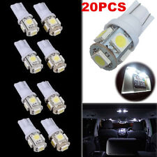 20 PCS White DC12V T10 5050 5SMD LED Car Light Wedge Lamp Bulbs Super Bright