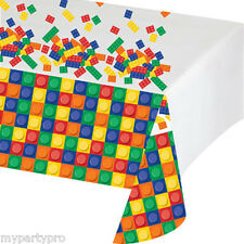 Lego inspired, Building Blocks Plastic Tablecover Birthday party supplies