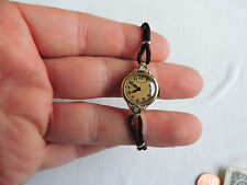Vintage 14K GOLD HAMILITON WATCH Ladies 2 Diamonds (id177)