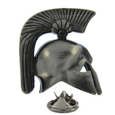 Detailed 3D Roman Helmet Metal Pin Badge battle galea gladiator soldier AJTP242