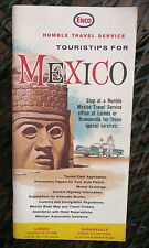 1966 Mexico tour book trip  maps Enco gas oil visitor's guide 42 pages