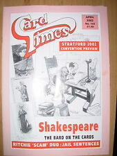 CARD TIMES MAGAZINE FORMERLY CIGARETTE CARD MONTHLY No 143 APRIL 2002