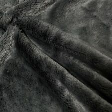 "Faux Fur Fabric Short Pile 60"" wide Sold By The Yard Shag Rabbit Dark Grey"