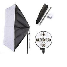 "Lighting Studio 60x90cm /24""x35"" Softbox  + 5 E27 Socket Lamp Holder CFL Light"