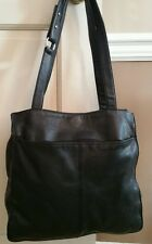 Kenneth Cole black pebbled leather XL tote