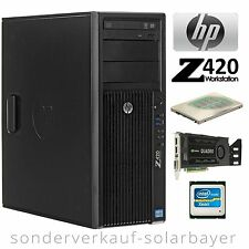 HP Z420 Workstation CAD PC Xeon E5-1620 + Ram 16GB + HDD 160GB 10K + Quadro 2000