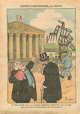 Caricature Antiparlementaire Aristide Briand Siège de Député 1910 ILLUSTRATION