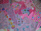 Value girly pink mix, great kids fabric pack G craft material scraps 15 pieces!