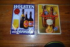 Blechschilder 2x Brauerei Werbeschilder Bierwerbung Holsten Radeberger