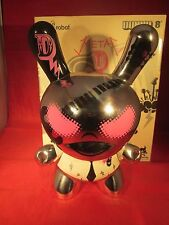 """Kidrobot Metal D Mad Barbarians Silver 8"""" Dunny Used"""