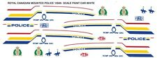 ROYAL CANADIAN MOUNTED POLICE 1/64th HO Waterslide Decals