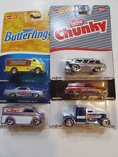 HOT WHEELS POP CULTURE SET OF 6 NESTLE DAIRY DELIVERY CONVOY CUSTOM CHEVY NOVA