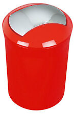 Spirella Sydney Rot Cubo De Basura Cubo 5 Litros Diseño Suizo Red