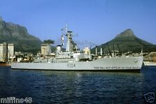 ROYAL NAVY LEANDER CLASS FRIGATE HMS DIDO AT CAPETOWN IN 1973