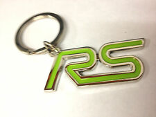 "Ford Focus Escort Cosworth Capri Juice Green ""RS"" Logo Chrome Keyring, 2GW8"