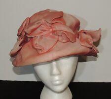 1960's Gilbert Orcel - Paris Silk Organza Hat w Flowers  SM