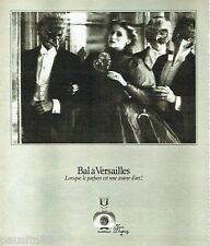 PUBLICITE ADVERTISING 116  1978   Bal à Versailles  parfum Jean Desprez