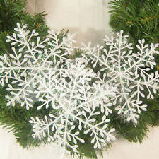 30PCS New Christmas White Snowflake Ornaments Classic Holiday Party Window Decor