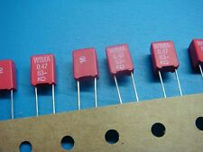 (50) WIMA MKS2 0.47/63/10 0.47uF 63V 10% 5mm POLYPROPYLENE FILM CAPACITOR