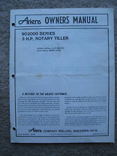 Ariens 902000 Series 3 HP Rotary Tiller Instruction Owners Manual