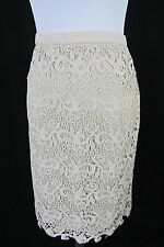 Womens Lace Formal Cocktail Skirt size Medium Champagne Slim