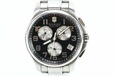 VICTORINOX SWISS ARMY - 241455 OFFICERS BLACK CHRONO DIAL WATCH MENS 45MM