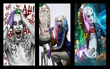 "SUICIDE SQUAD - JOKER & HARLEY QUINN Wall Art Large Canvas Print 20""x30"""