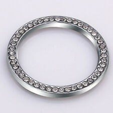 Car SUV Bling Decorative Accessories Button Start Switch Silver Diamond Ring