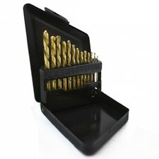 13pc Left-Hand Drill Bit Titanium Industrial Strength w/ Case Stud Extractor Set